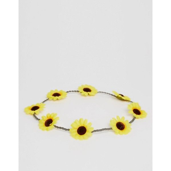 ASOS Sunflowers Plaited Headband ($4.32) ❤ liked on Polyvore featuring accessories, hair accessories, elasticated headband, braided headband, braided elastic headband, asos headband and woven headbands