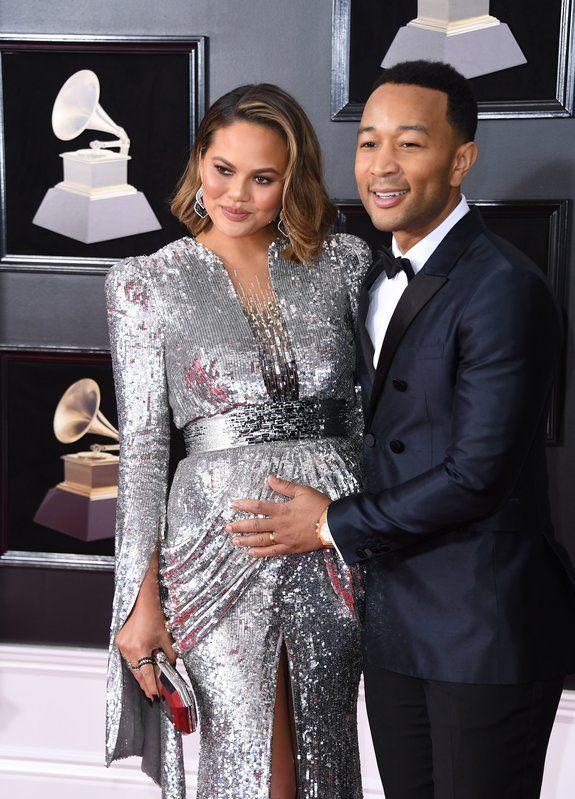 (ANGELA WEISS via Getty Images) Grammys 2018: Chrissy Teigen and John Legend