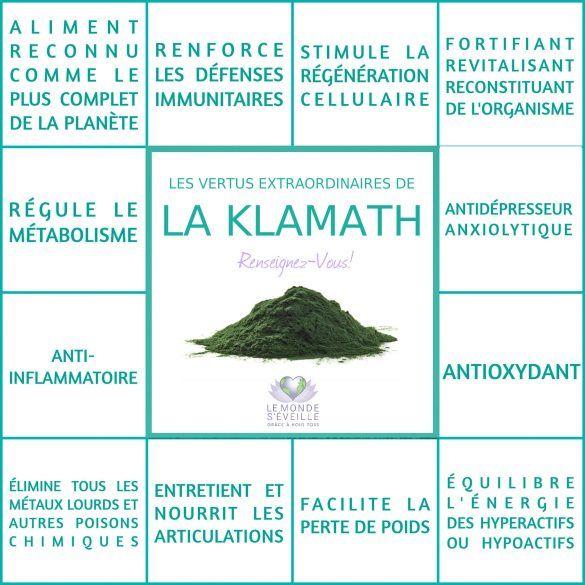 Les Bienfaits de la Klamath