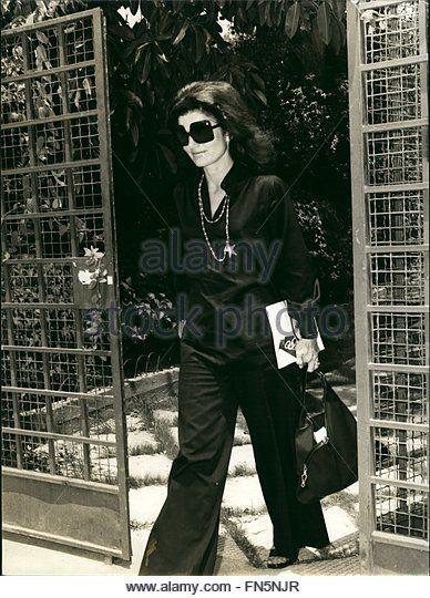 1973 - Jacqueline Kennedy Onassis Greece © Keystone Pictures USA/ZUMAPRESS.com/Alamy Live News - Stock Image