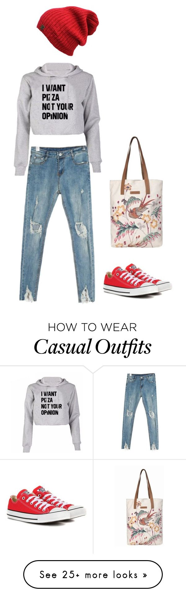 """Casual Tuesday #2"" by impavidgirl on Polyvore featuring Converse and BeckSöndergaard"