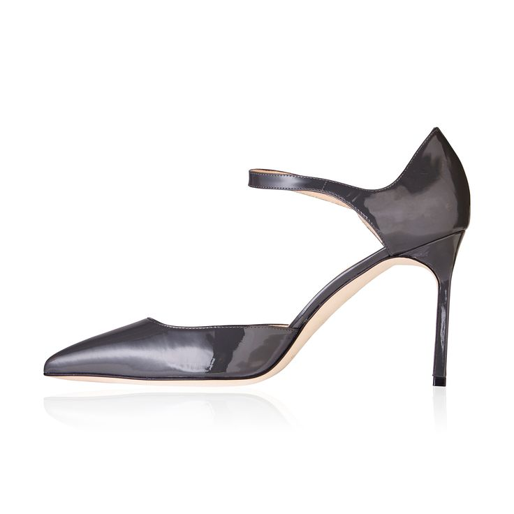Manolo Blahnik Norvany Mary Jane Grey - These sexy sky-high pumps inspired by the timeless Mary Jane.Beautiful made they are comfortable enough for all day wear.