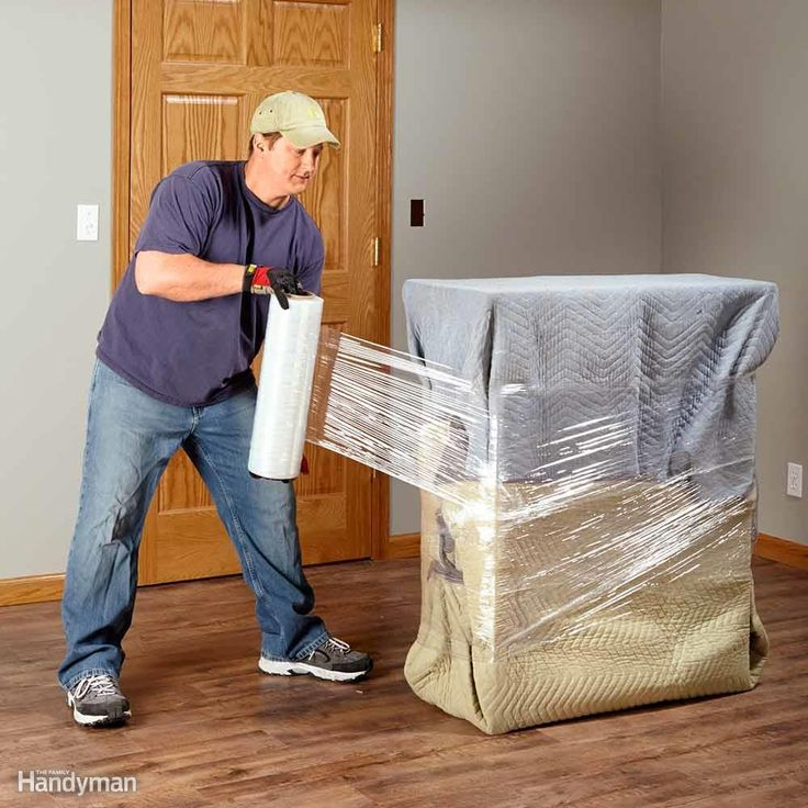 Moving blankets are invaluable for protecting the items you're moving as well as your house. Sure, renting them is cheap, but you can buy several for just a few dollars more at home centers or uhaul.com and always have them on hand. (You'll use them for all kinds of other things too.) To prevent damaging the finish and fragile edges of dressers, tables and other furniture, wrap the items completely with moving blankets and secure the blanket with stretch film. A 20-in. x 1,500-ft. roll of…