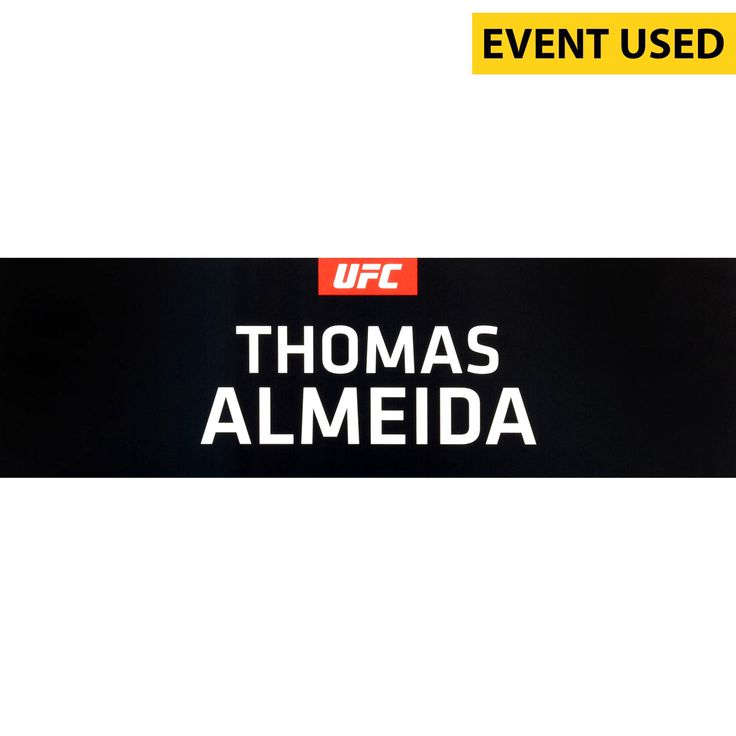 Thomas Almeida Ultimate Fighting Championship Fanatics Authentic UFC 189 Event-Used Locker Room Nameplate - $79.99