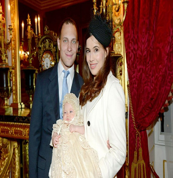 Lord Frederick Windsor, Sophie Winkleman with their daughter Maud Windsor was christened this week, 16.12.13