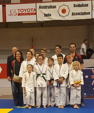 The Seacliff Judo Club team at the Kodokan National Competitions 2016.