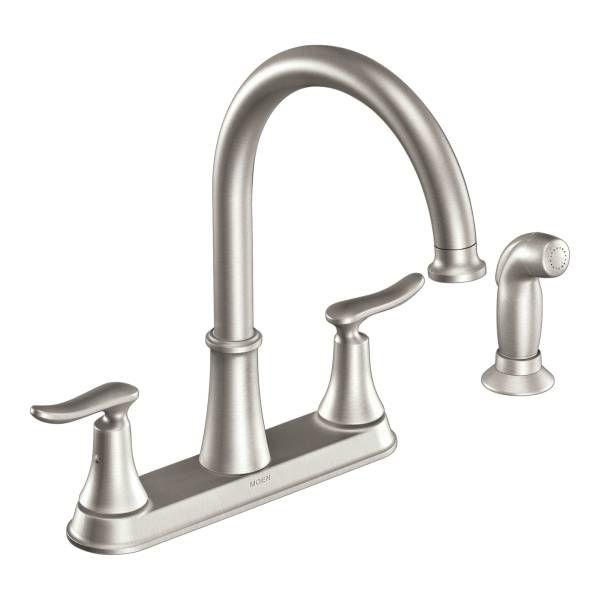 Solidad Spot Resist Stainless Two Handle High Arc Kitchen Faucet Casrs Plumbing Fixtureskitchen