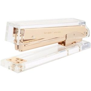 Kate Spade Acrylic Stapler, Gold - Contemporary - Desk Accessories - by RACHEL GEORGE