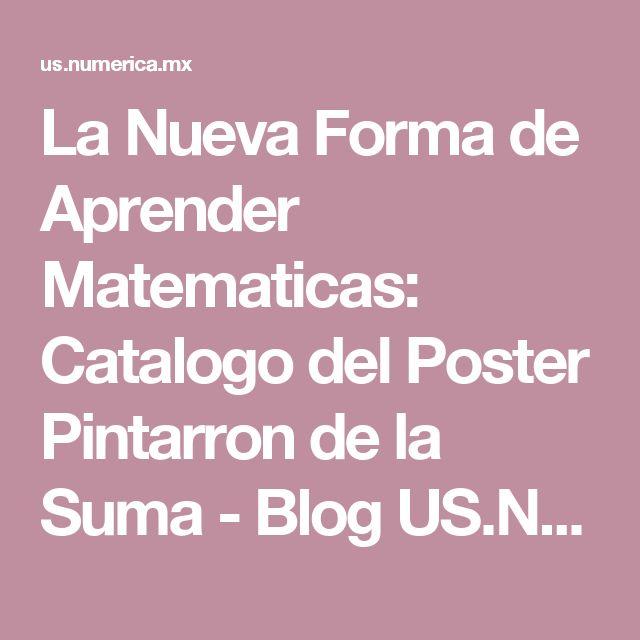 La Nueva Forma de Aprender Matematicas: Catalogo del Poster Pintarron de la Suma - Blog US.NUMERICA.MX