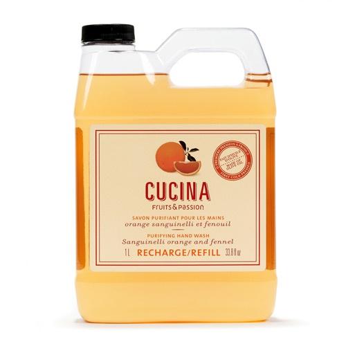Cucina Orange Sanguinelli and fennel refill / Recharge de savon pour les mains Orange sanguinelli et fenouil