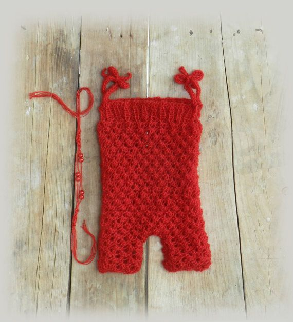 Hand Knit Baby Romper and Headband/ Baby Girl by GabriCollection