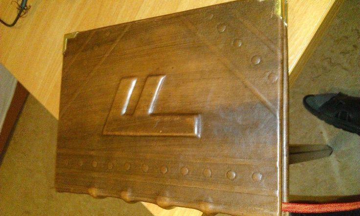 Made by hand. covered with leather. Paweł Wodziński.