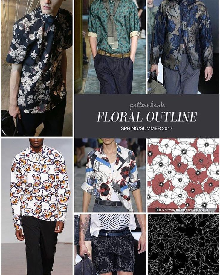 Menswear Spring/Summer 2017 – Key Print and Pattern Highlights → ptbk.co/29jPqB4 – The Patternbank Team bring you the key Print Trends from the Spring and Summer 2017 Menswear Catwalk shows alongside some great designs from The Patternbank Online Textile Studio.