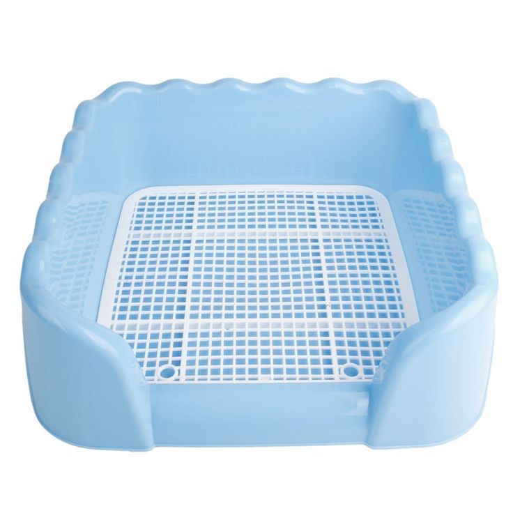 Z ZTDM Dog Pet Indoor Home Pet Potty Training Toilet With Fence for Pet Cat Puppy Dog (Blue Size S-Wave) ** Check out the image by visiting the link.