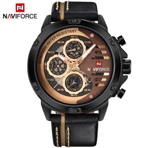 aspetto dettagliato 8ce70 58e35 Naviforce Mens Watches Top Luxury Waterproof 24 Hour Date Quartz ...