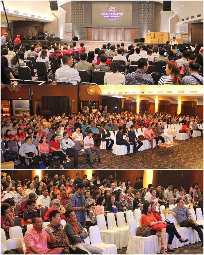 Para tamu yang turut menghadiri Grand Product Knowledge, @Beau Rivage, Amarita Resort & Spa, sebanyak 239 tamu yang hadir.