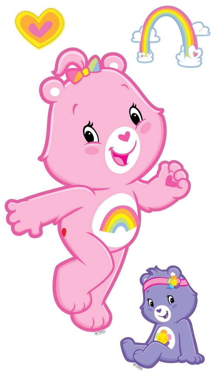 Brewster st99834 care bears wall stickers bear character