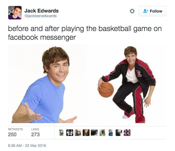 There's A Basketball Game In Facebook Messenger And People Are Already Addicted