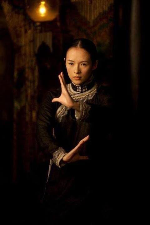 """Zhang Zi Yi demonstrating The Ba Gua Zhang """"Millstone Pushing """" Posture from the…"""