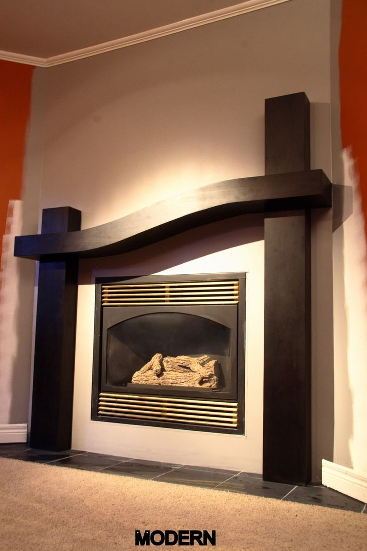 Contemporary Fireplaces For Luxury Living Rooms: Modern Style Fireplace Mantel Surround