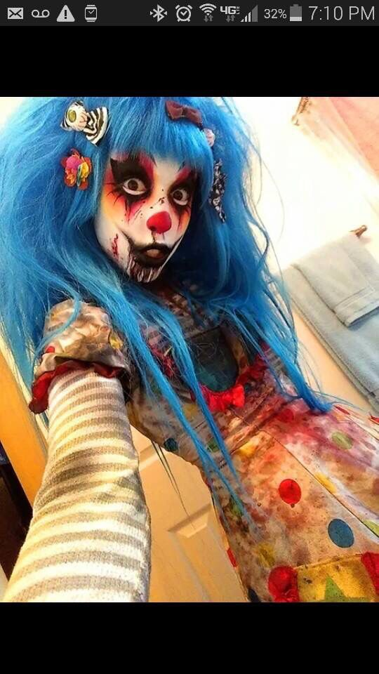 Evil Clown girl costume and make up