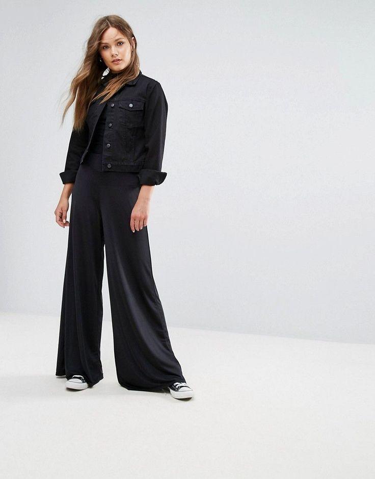 NEW LOOK WIDE LEG PANTS - BLACK. #newlook #cloth #