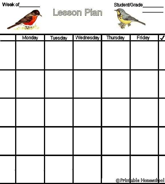 ... Printable Lesson Plan Forms | Homeschool Stuff: Planning and Sch