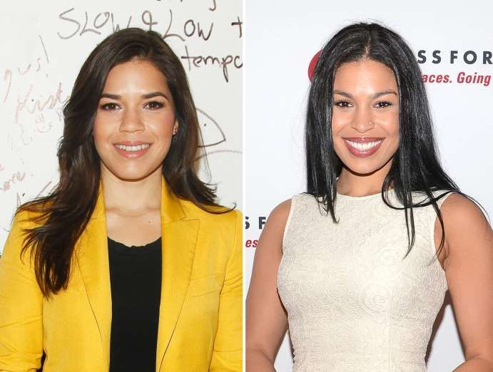 America Ferrera and Jordin Sparks - Andy Kropa /Invision/AP; Anthony Behar/Sipa USA/Rex Features