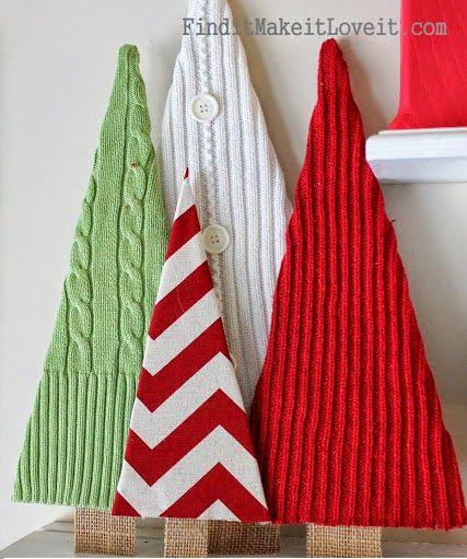 Φτιάξτε Χριστουγεννιάτικα δέντρα απο παλιά πουλόβερ! | Φτιάξτο μόνος σου - Κατασκευές DIY - Do it yourself