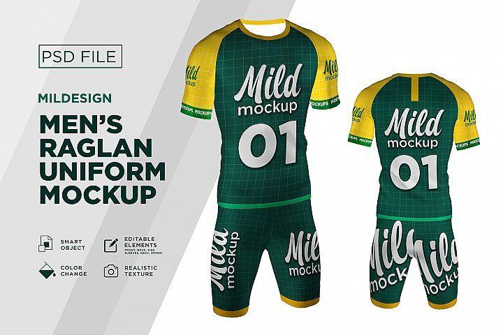 Download Raglan Short T Shirt Mockups 387159 Mockups Design Bundles
