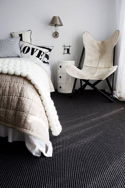 Dark grey / black carpet design ideas for spare room
