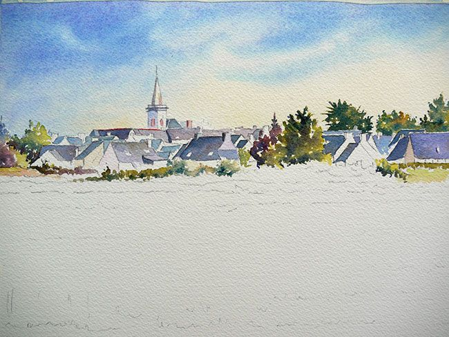 Aquarelle Watercolor Champ Damgan17 Comment Peindre Peinture A
