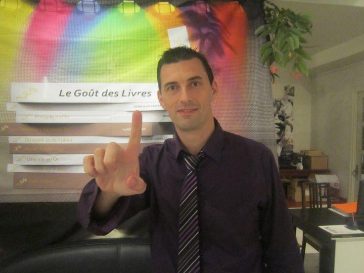 Stéphane Grare, l'auteur du livre « L'Aube De Ma Jeunesse » annoncé à la soirée le « Goût Des Livres »