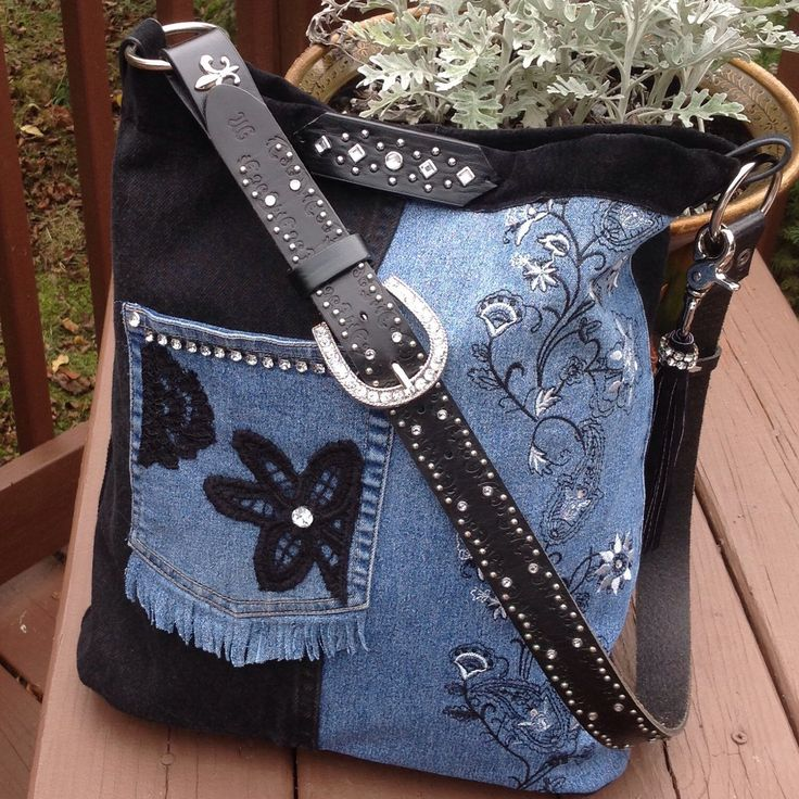 Just finished black and blue denim over the shoulder messenger bag.  Beautiful bag, hope you like it.