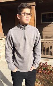 Mens Columbia Titanium Omni Shield Grey Black Half Zip Sweater Jacket Mens Med | eBay