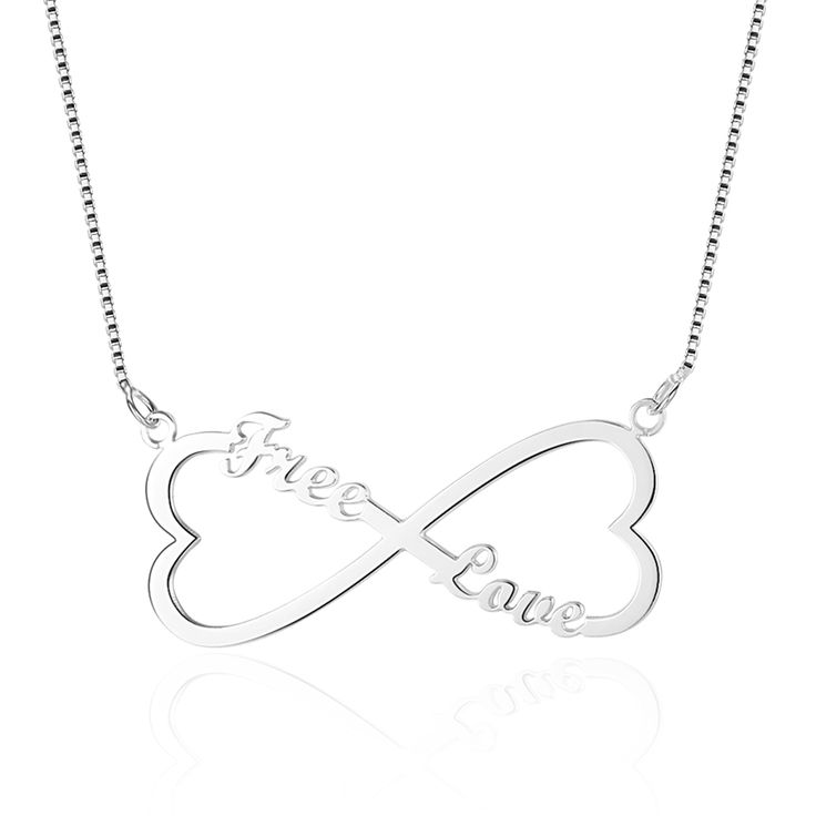 Double Heart Personalized Name Necklace - Belis Delights