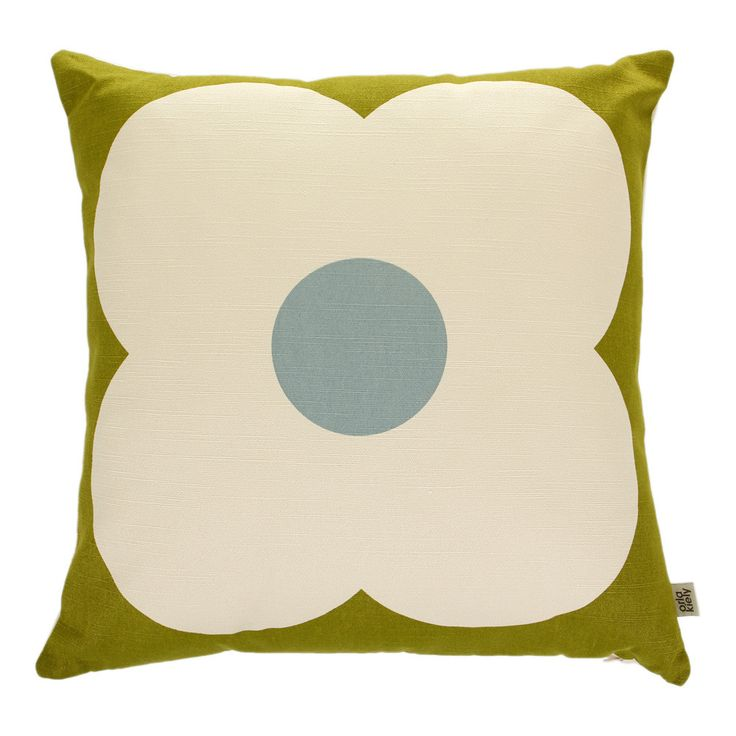 Discover the Orla Kiely Giant Abacus Olive/Duck Egg Cushion - 45x45cm at Amara