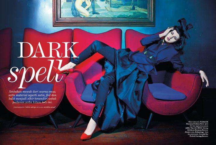 """Dark Spell"" - October 2014 #ELLE #ELLEIndonesia #fashion #magazine #editorial"