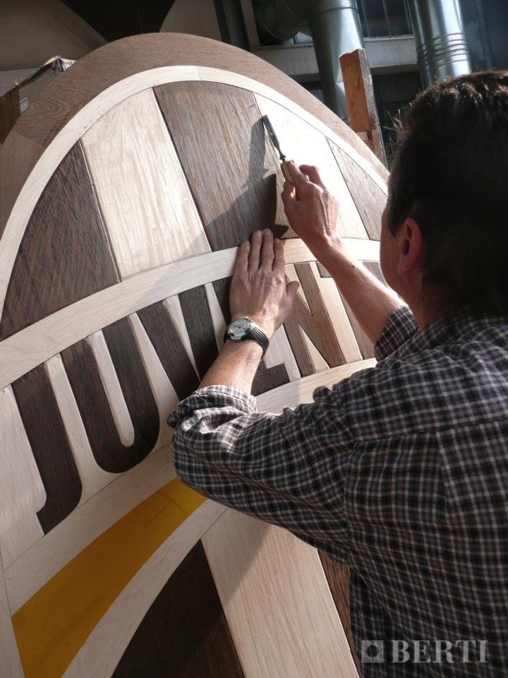 Berti Juventus celebrates Italian Champion! Berti wood Floring laser Inlays. #parquet #parquetlovers