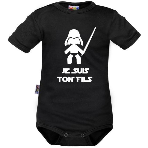 Body bébé noir : Je suis ton FILS - Drôles - Family In Black