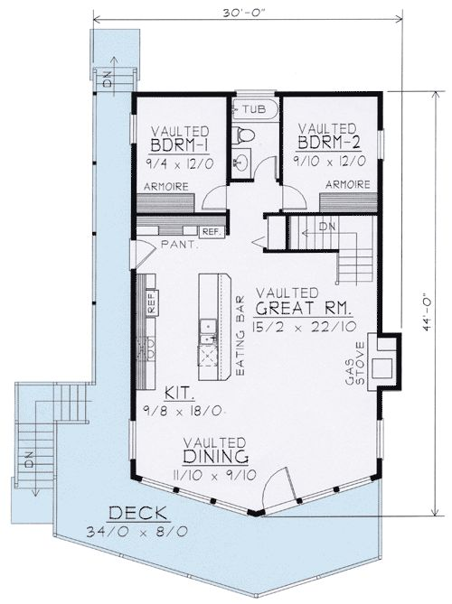 Plan 14001DT: Wide Open Lakefront Home Plan