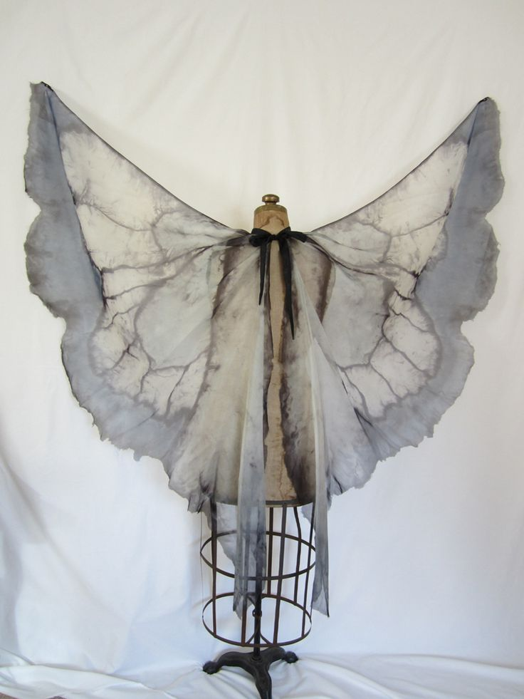 Hand-dyed silk wings by Firebird Fae Couture short version shown