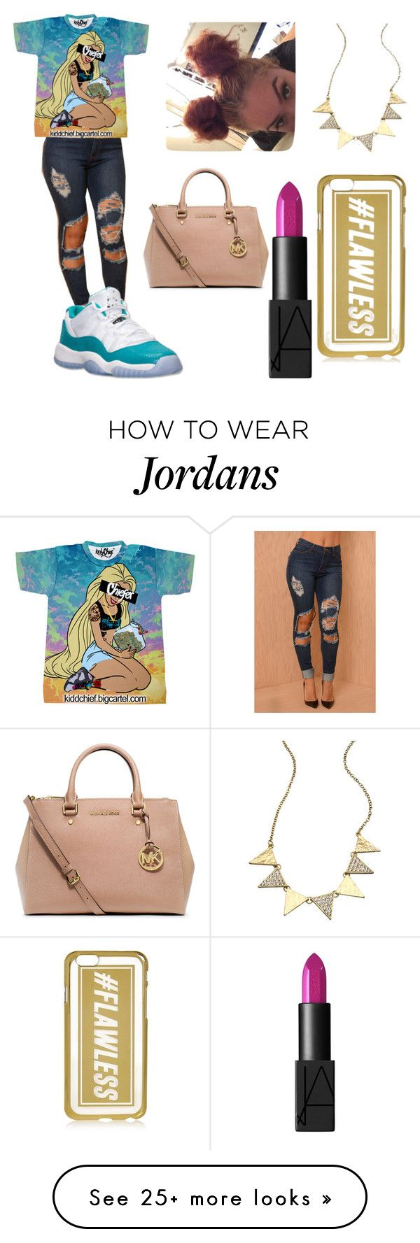 """""""Untitled #95"""" by lovelyalecia on Polyvore featuring Retrò, Blu Bijoux, MICHAEL Michael Kors, River Island and NARS Cosmetics"""