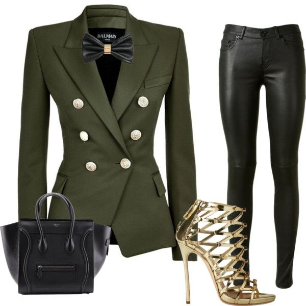 Fashion inspiration for her by artursantos on Polyvore featuring polyvore, fashion, style, Balmain, Yves Saint Laurent, Dsquared2 and H&M
