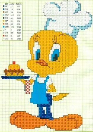 Punto croce - Schemi e Ricami gratuiti: Schemi punto croce - raccolta cartoni animati, biancaneve topolino, pippo e paperino
