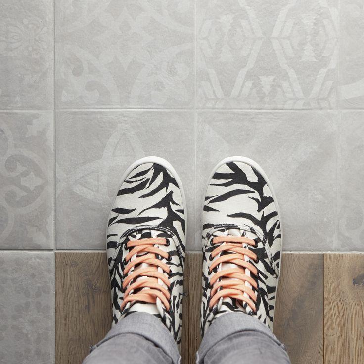 25 best Sol mix \ match images on Pinterest Bathroom, Bathrooms - peindre du ciment au sol