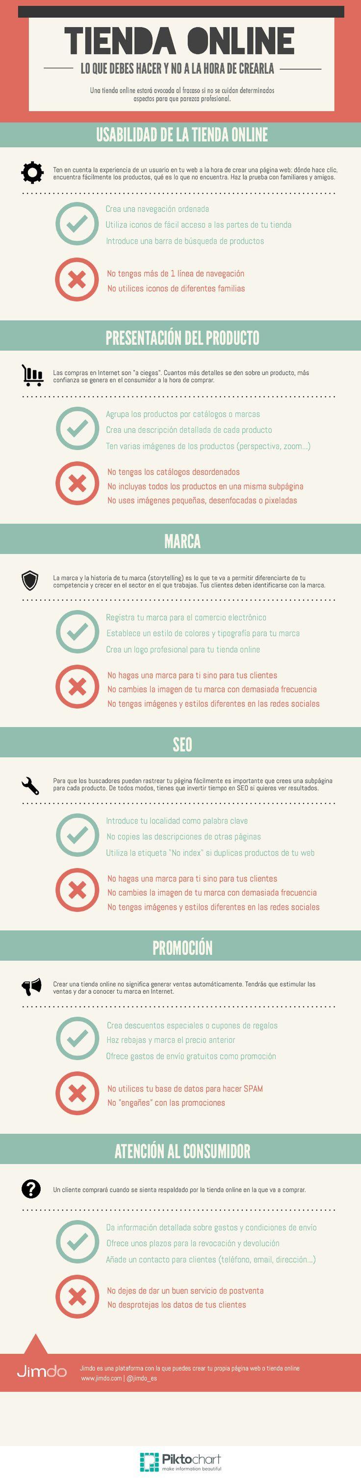 Tienda online: lo que debes hacer y lo que no #infografia #infographic #ecommerce
