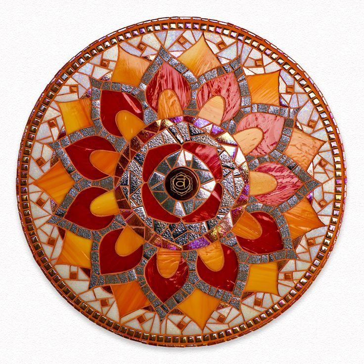mandala mosaic sacral chakra