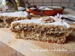 Crostata integrale fichi e noci, il gusto di questo dolce e impagabile marmellata di fichi e noci secche, connubio di sapori perfetti, sono gli ingredienti