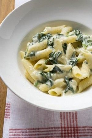 Weight Watchers Pasta With Creamy Spinach Sauce recipe